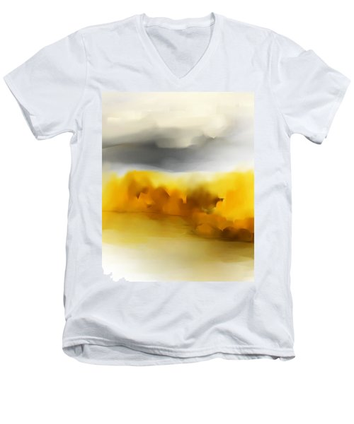 Autumn Along The River Men's V-Neck T-Shirt