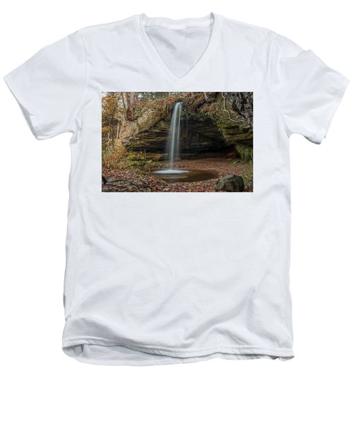Autumn At Scott Falls Men's V-Neck T-Shirt