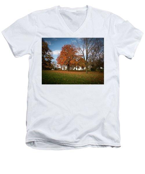 Autumn Bliss Men's V-Neck T-Shirt