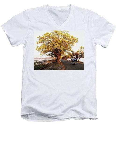Autumn Causeway Men's V-Neck T-Shirt