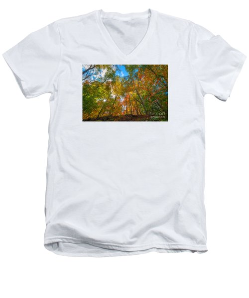 Autumn Colors  Men's V-Neck T-Shirt by Michael Ver Sprill