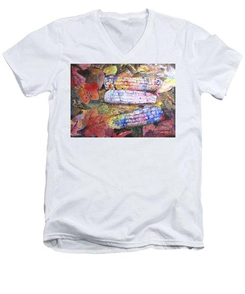 Autumn Corn Men's V-Neck T-Shirt