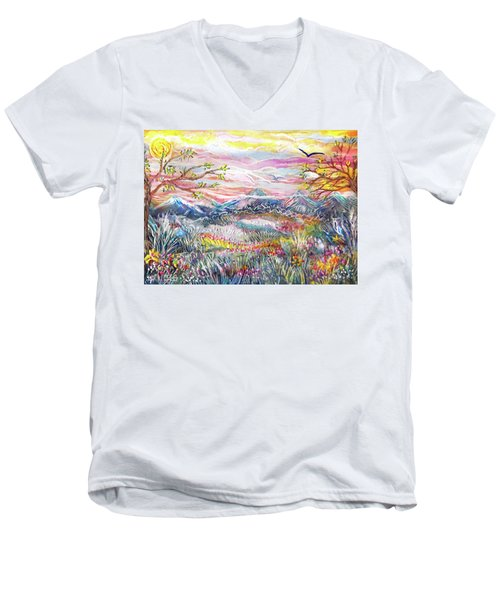 Autumn Country Mountains Men's V-Neck T-Shirt