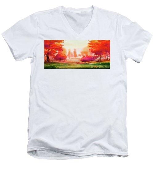 Autumn Delight Men's V-Neck T-Shirt