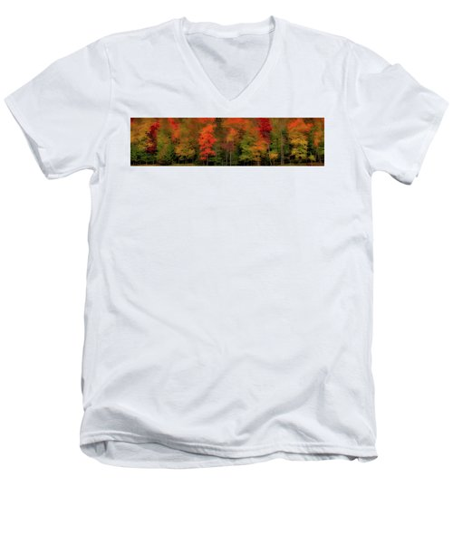 Autumn Fence Line Men's V-Neck T-Shirt