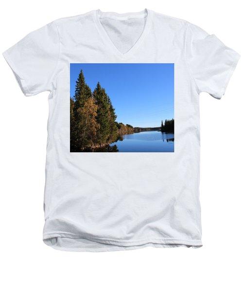 Autumn In Europe  Men's V-Neck T-Shirt