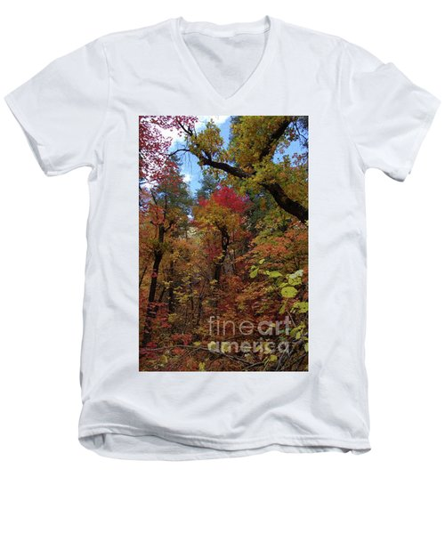 Autumn In Sedona Men's V-Neck T-Shirt