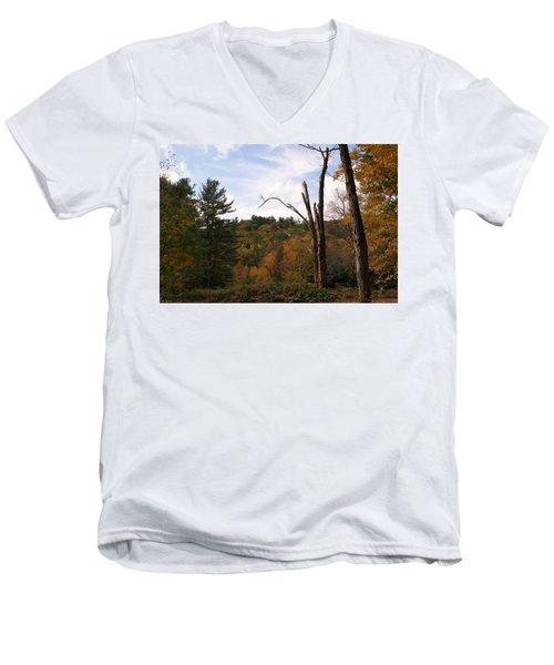 Autumn In The Hills Men's V-Neck T-Shirt