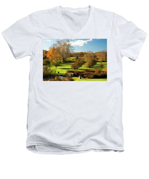 Autumn In The Park Men's V-Neck T-Shirt