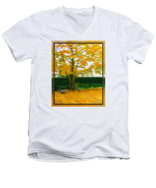Autumn, Leaves Men's V-Neck T-Shirt