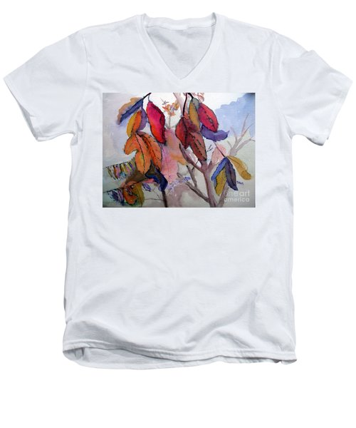 Autumn Leaves Men's V-Neck T-Shirt by Sandy McIntire