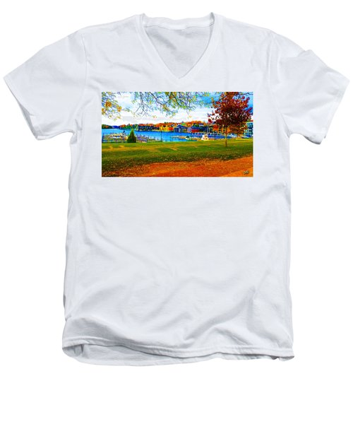 Autumn On Lake Charlevoix Men's V-Neck T-Shirt