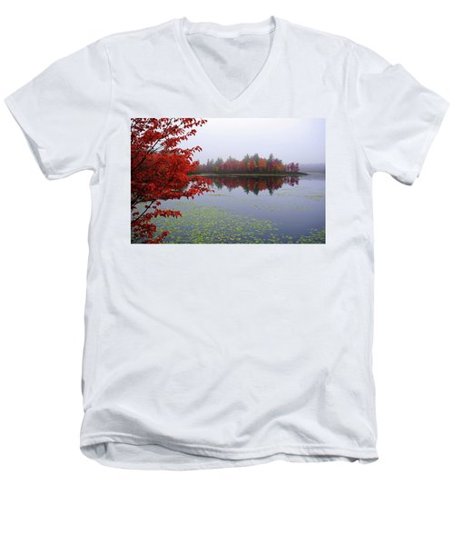 Autumn On The Bellamy Men's V-Neck T-Shirt