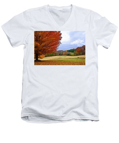 Autumn On The Golf Course Men's V-Neck T-Shirt