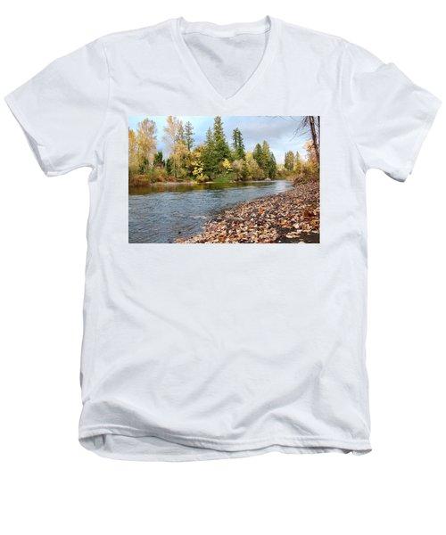 Autumn On The Molalla Men's V-Neck T-Shirt