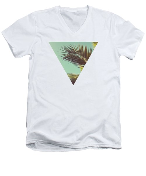 Autumn Palms Men's V-Neck T-Shirt