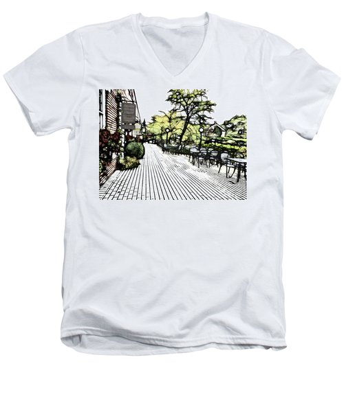 Autumn Patio Men's V-Neck T-Shirt