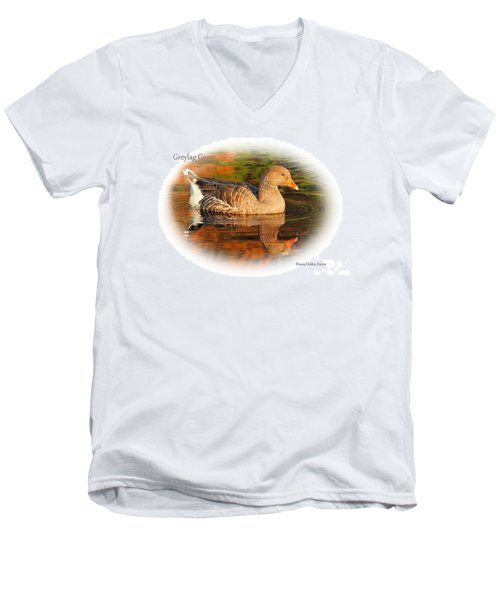 Men's V-Neck T-Shirt featuring the photograph Autumn Reflection by Debbie Stahre