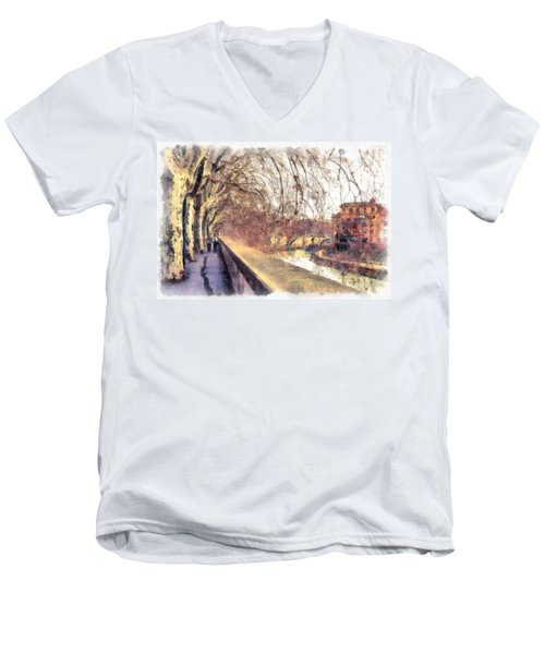 Men's V-Neck T-Shirt featuring the photograph Autumn by Sergey Simanovsky