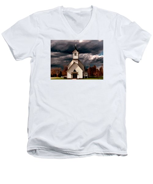 Awaiting The Storm Men's V-Neck T-Shirt