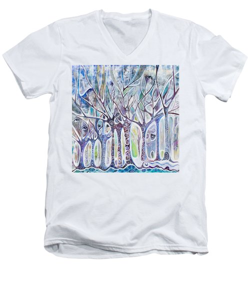 Awareness Men's V-Neck T-Shirt by Leela Payne