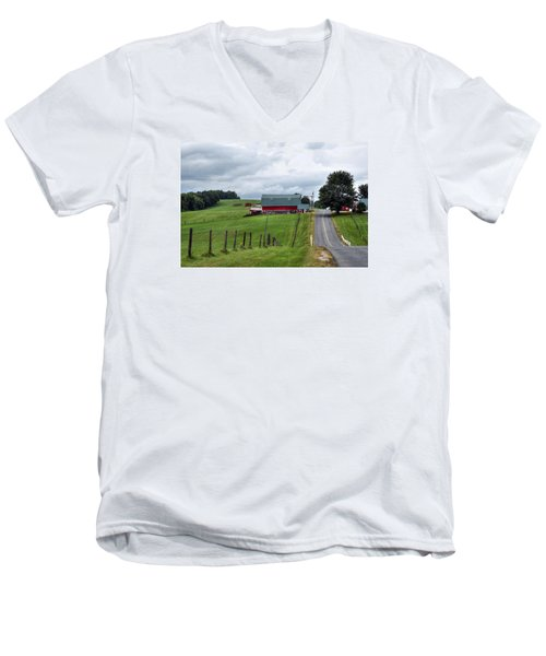 Ayrhill Farm No. 1 - The Berkshires Men's V-Neck T-Shirt