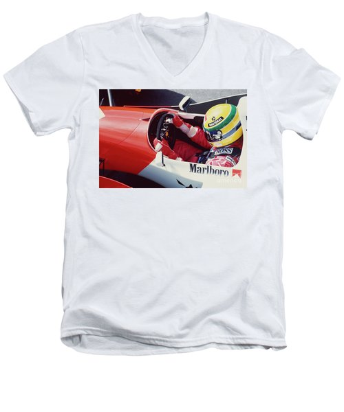 Ayrton Senna. 1993 Spanish Grand Prix Men's V-Neck T-Shirt