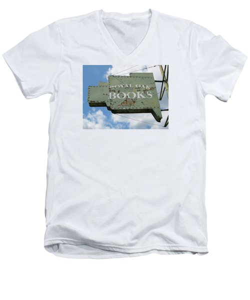A Sign Of The Times Men's V-Neck T-Shirt by Sandra Church