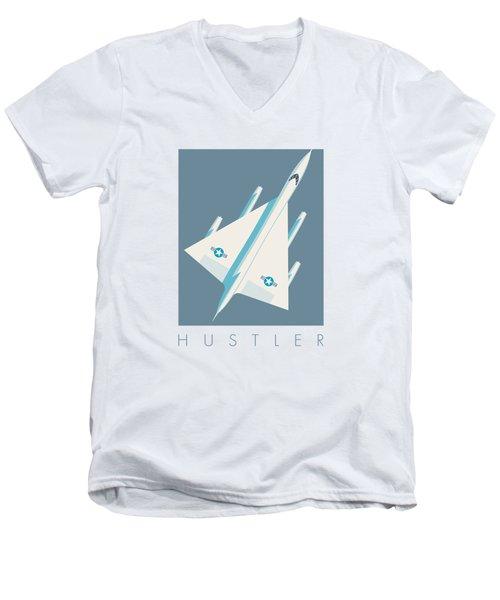 B-58 Hustler Supersonic Jet Bomber - Slate Men's V-Neck T-Shirt