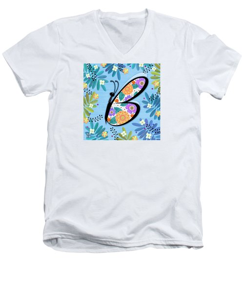 B Is For Butterfly Men's V-Neck T-Shirt