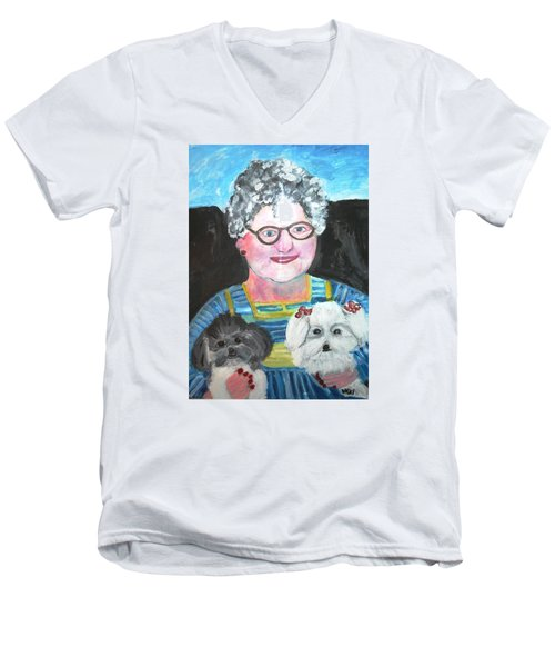 Babka, Puppies Men's V-Neck T-Shirt