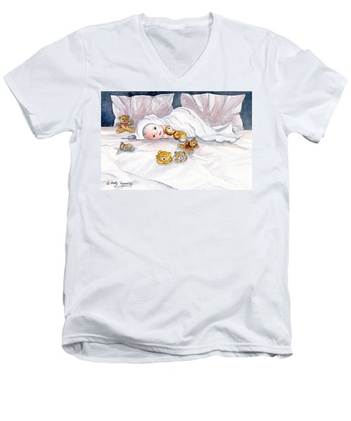 Baby And Friends Men's V-Neck T-Shirt by Melly Terpening