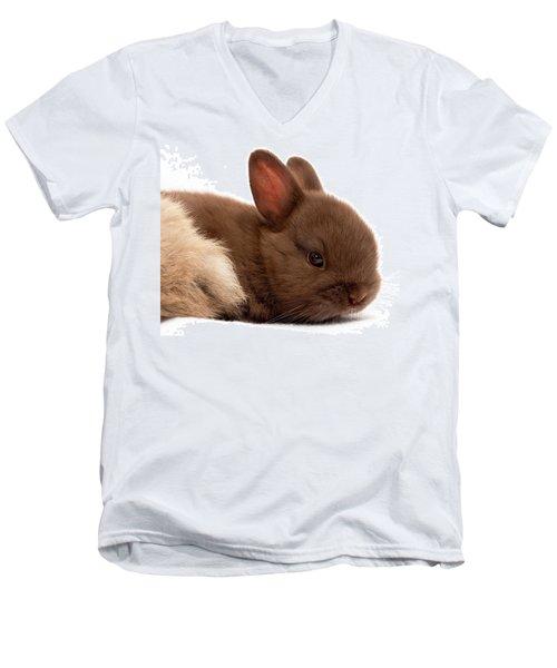 Baby Bunny  #03074 Men's V-Neck T-Shirt