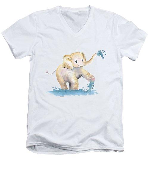 Baby Elephant 2 Men's V-Neck T-Shirt