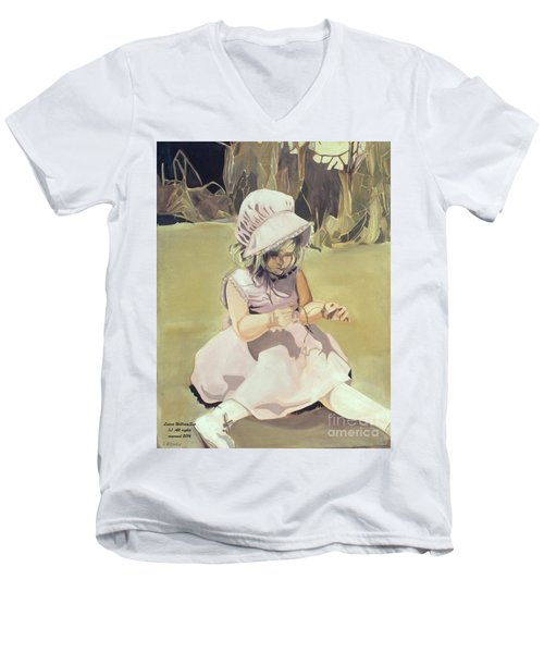 Baby Girl Discovering Men's V-Neck T-Shirt