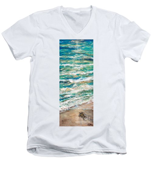 Baby Sea Turtle II Men's V-Neck T-Shirt