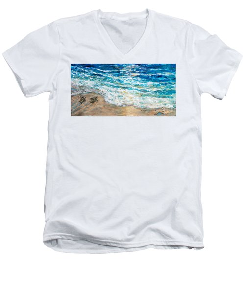 Baby Sea Turtles Iv Men's V-Neck T-Shirt