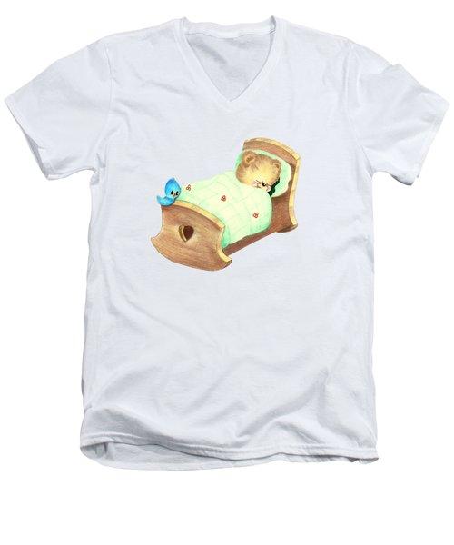 Baby Teddy Sweet Dreams Men's V-Neck T-Shirt