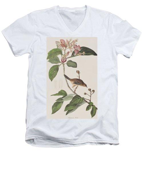 Bachmans Sparrow Men's V-Neck T-Shirt by John James Audubon