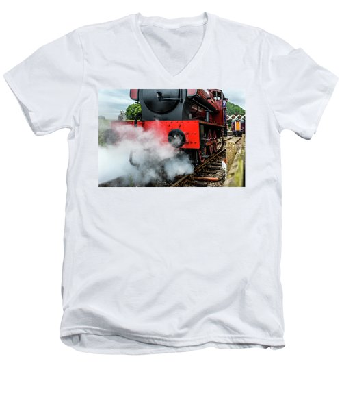 Men's V-Neck T-Shirt featuring the photograph Back It Up by Nick Bywater