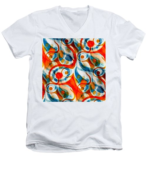 Background Choice Coffee Time Abstract Men's V-Neck T-Shirt