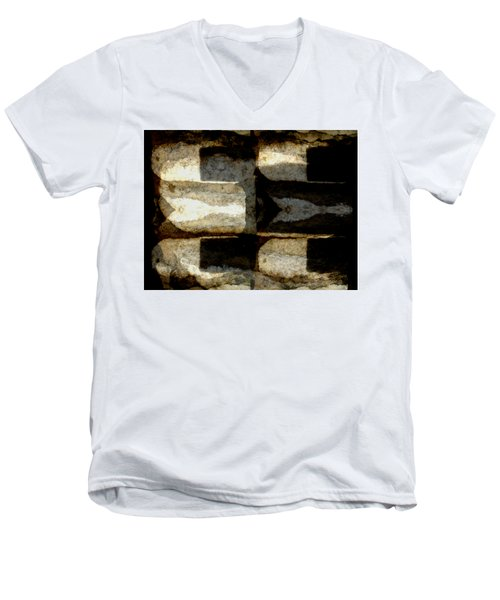 Colour Choice Stone Abstract Men's V-Neck T-Shirt