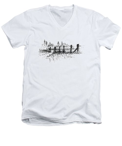 Backlit Fence Men's V-Neck T-Shirt