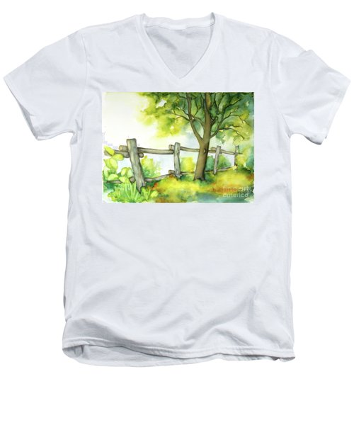 Backyard 1 Men's V-Neck T-Shirt