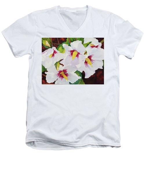 Backyard Blooms Men's V-Neck T-Shirt