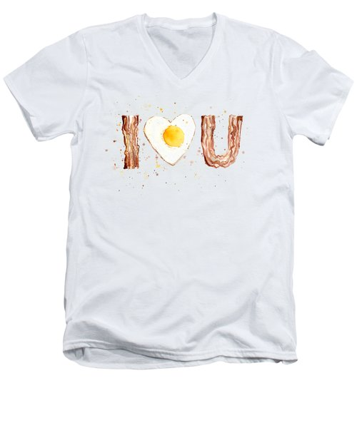 Bacon And Egg Love Men's V-Neck T-Shirt