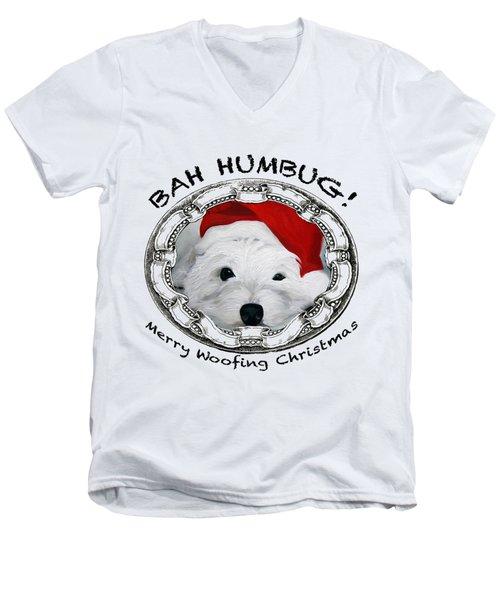 Bah Humbug Merry Woofing Christmas Men's V-Neck T-Shirt
