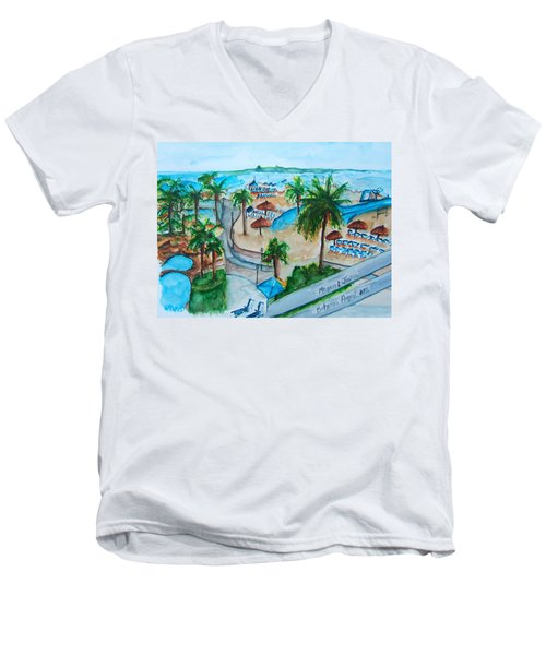 Bahamas Balcony Men's V-Neck T-Shirt