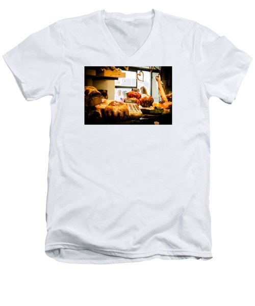 Men's V-Neck T-Shirt featuring the photograph Baker by Jason Smith