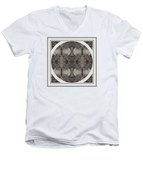 Balance Expressed In Black And White Men's V-Neck T-Shirt by Jack Dillhunt